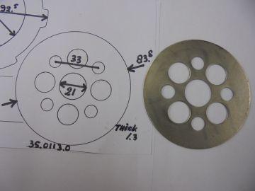 35.0113.0 Clutch plate, steel P3 / P4 &  P6 Corsa Corta