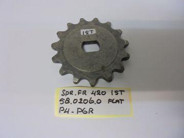 58.0206.0 Gear front chain Minarelli 15T 1/2 x 1/4 (420)