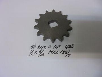 58.242.0 gear front chain 14T Minarelli 125/5