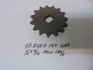 58.243.0 Gear front chain 15T Minarelli 125/5