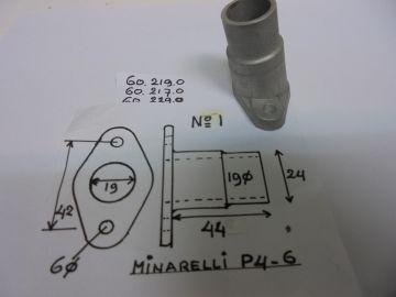 60.219.9 / 60.217.9 / 60.229.0 pipe inlet Minarelli P4-6
