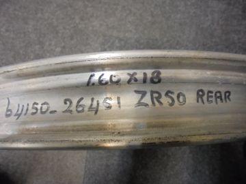 64150-26451 Rear wheel 1.60 x 18 ZR50L new