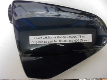 83600-449-000 Cover frame L.H.Hon.CX500C'78 up new