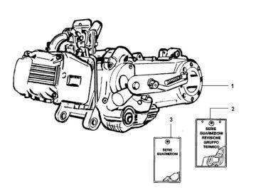 Piaggio ZIP 50 4-stroke model 2006 - 2013 Engine