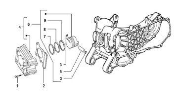Piaggio ZIP 50 4-stroke model 2006 - 2013 Cylinder