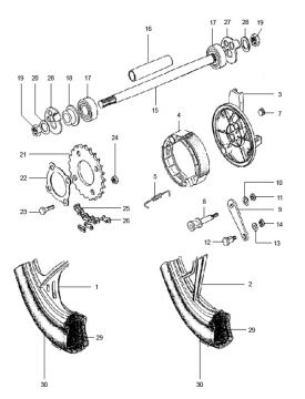 Tomos Standard Luxe Quadro Rear Wheel