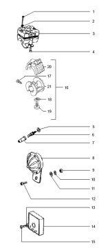 Tomos Standard Luxe Quadro Claxon / Ignition coil