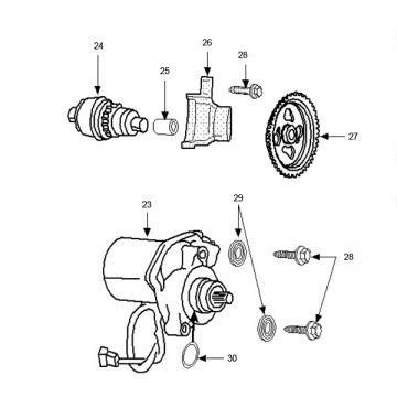 Peugeot Ludix Pro Start Motor