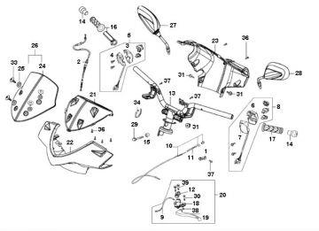 Kymco Agility 16'' 4-Stroke Handlebar Parts