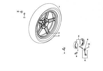 Kymco Agility 16'' 4-Stroke Rear Wheel