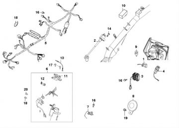 Kymco Agility 16'' 4-Stroke Wiring Harness