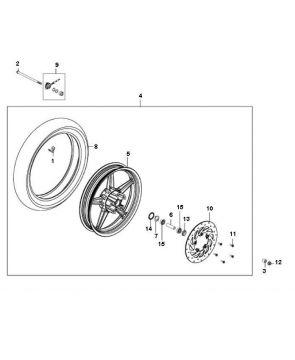 Kymco Agility 16'' 4-Stroke Front Wheel