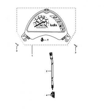 Peugeot Ludix Pro Speedometer