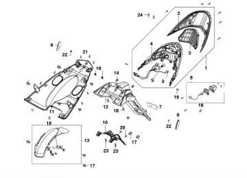 Kymco Agility 16'' 4-Stroke Tail Light