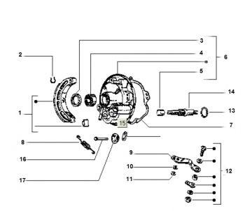 Vespa Ciao Brake Parts