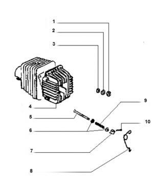 Vespa Ciao Cylinder Head