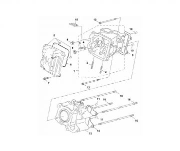 Yamaha Aerox 2014 model 4-stroke Cilinder and Piston