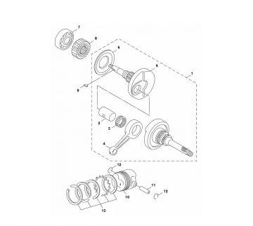 Yamaha Aerox 2014 model 4-stroke Crankshaft