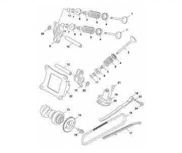 Yamaha Aerox 2014 model 4-stroke Valve parts