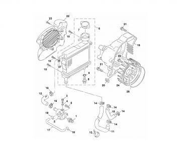 Yamaha Aerox 2014 model 4-stroke Oil Pump