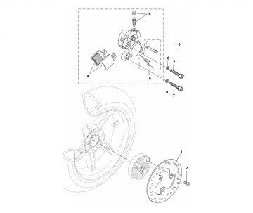 Yamaha Aerox 2014 model 4-stroke Rear Brake