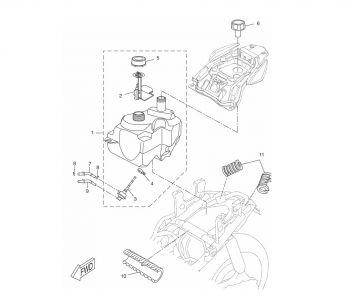 Yamaha Aerox model 2013 LC 2-stroke Fuel Tank