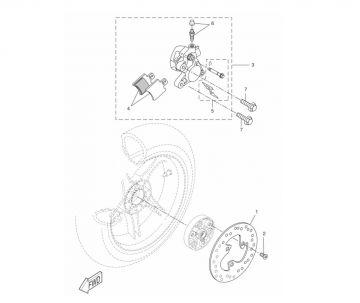 Yamaha Aerox model 2013 LC 2-stroke Rear Brake