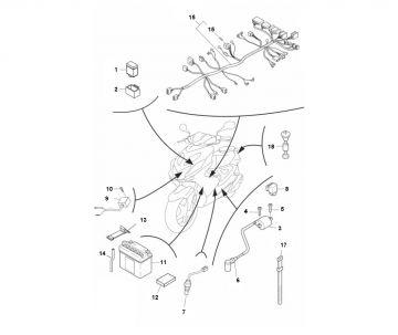 Yamaha Aerox model 2013 LC 2-stroke Electrical Parts 2