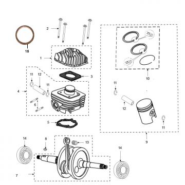 Peugeot Ludix Pro Cylinder - Crankshaft