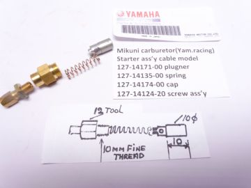 127-14174-00 Choke ass'y for cable Yamaha TD2-3 / TR2-3 / TZ250/350