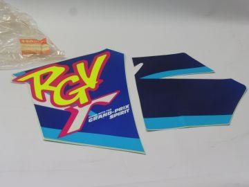 Tape sticker set cowling rear under RGV250