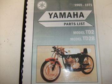 Partsbook TD2/TD2B Yamaha racing