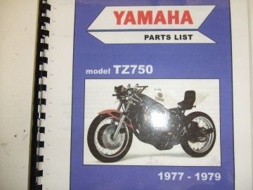 Parts book Yamaha TZ750 '77 - '79