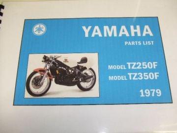 Partsbook TZ250/TZ350F/G Yamaha racing
