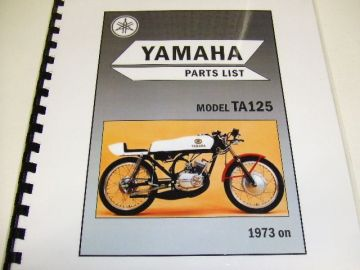Parts book Yamaha TA125 '73 - up