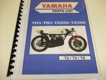 Partsbook comb.Yamaha TD3/TR3/TZ250/350  '72'73'74
