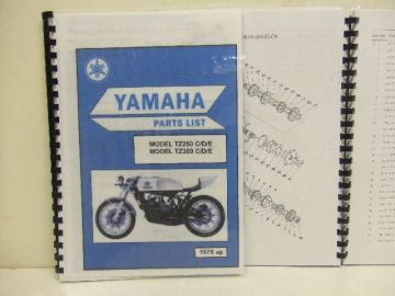 Partsbook Yamaha TZ250/350 C/D/E