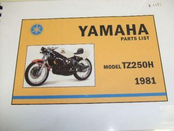 Partsbook TZ250H 1981