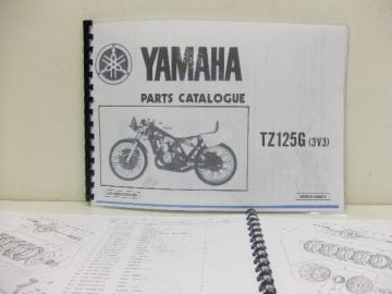 Partsbook TZ125 G/H 1979 / 1980 Yamaha racing