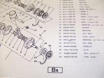 Partsbook Yamaha TZ250H '81