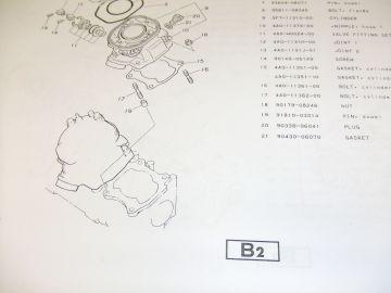 Partsbook Yamaha TZ250 J '82