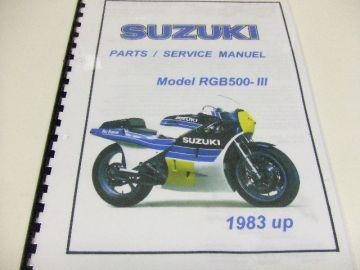 Parts/service manuel comb.book Suz.RGB500 racing>English