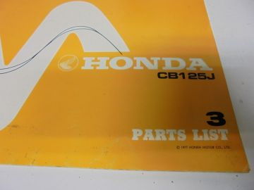New partbook Honda CB125 J-3