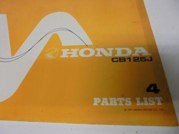 New partbook Honda CB125 J-4