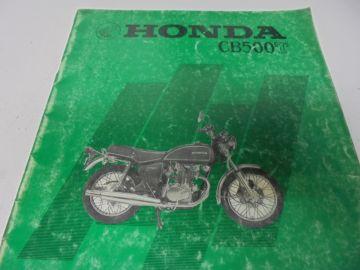 As new partbook Honda CB500 T-1