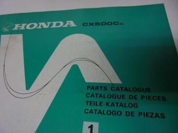 New partbook Honda CX500 CC