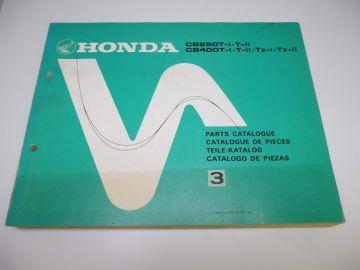 New partbook Honda CB250 T-1 T-11 & CM400 T-1T-T11-TZ1-TZ11