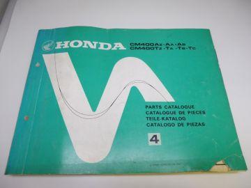 As new partbook Honda CM400 AZ-AA-AB-TZ-TA-TB-TC