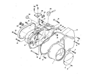 TR2 Crankcase cover