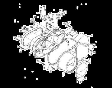 Yamaha TR2 Crankcase cover